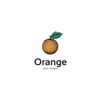 Vintages orange fruchtlogo