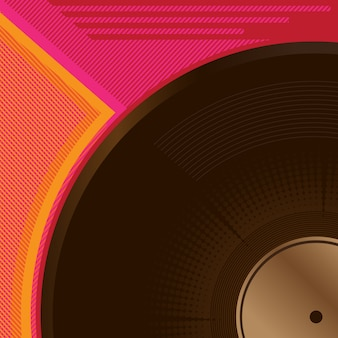 Vinyl hintergrunddesign