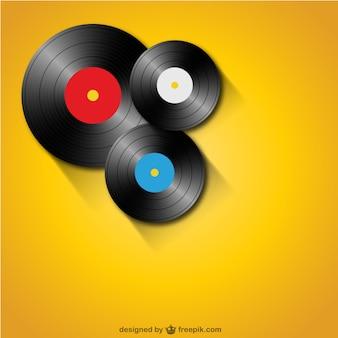 Vinyl-schallplatten kostenlose vorlage