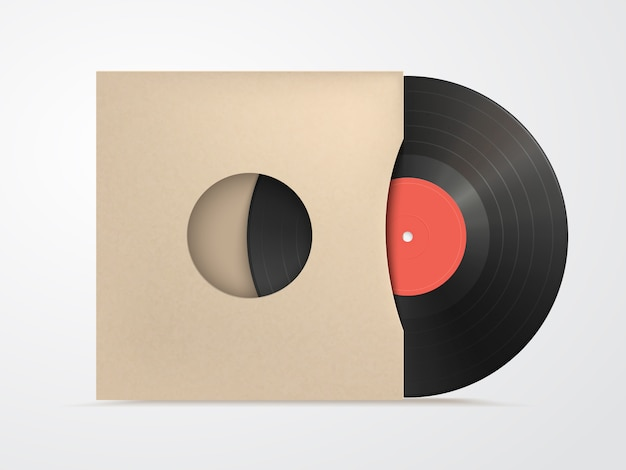 Vinyl und karton cover mockup