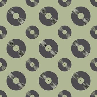 Vinylaufzeichnungsmuster, musikillustration. kreatives und luxuriöses cover Premium Vektoren