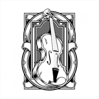 Viola musikinstrumentensaite.