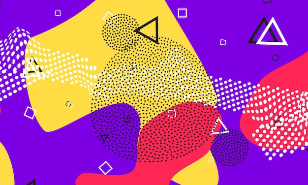 Violett-rotes flüssiges design. süßer flyer. splash-farben-poster.