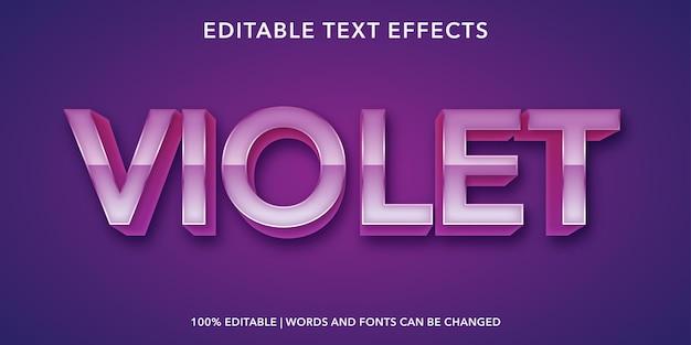 Violetter bearbeitbarer texteffekt