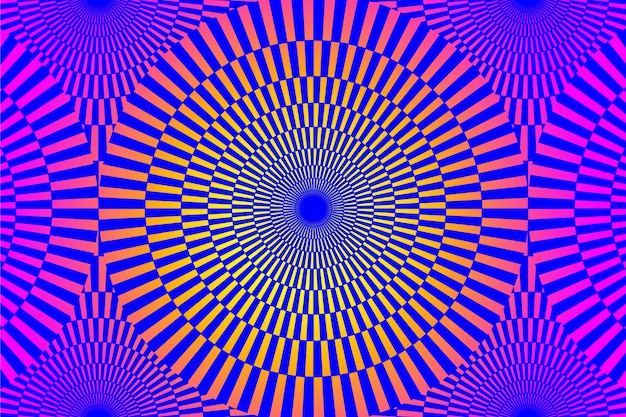 Violetter effekthintergrund der illusion