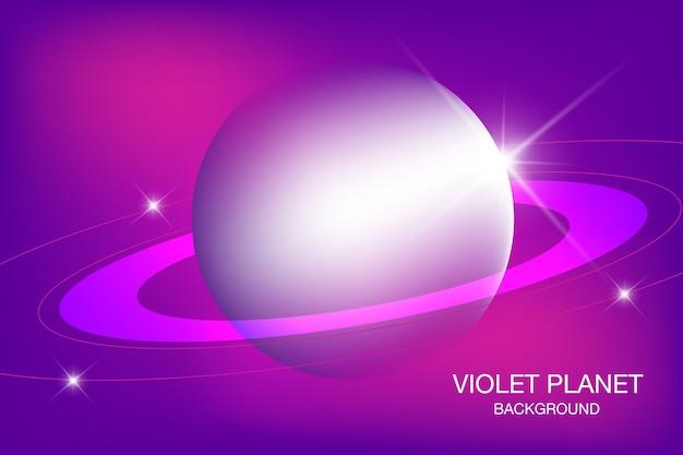 Violetter planet eleganter hintergrunddesign
