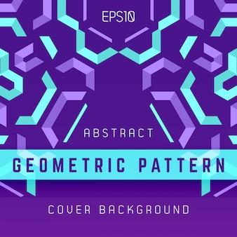 Violetter purpurroter blauer abstrakter geometrischer hintergrund