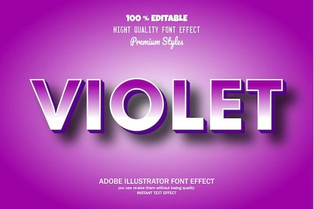Violetter text, editierbarer font-effekt
