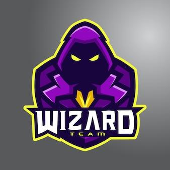 Violetter zauberer e-sport logo team