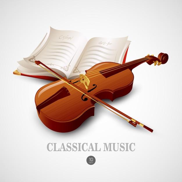 Violine. illustration