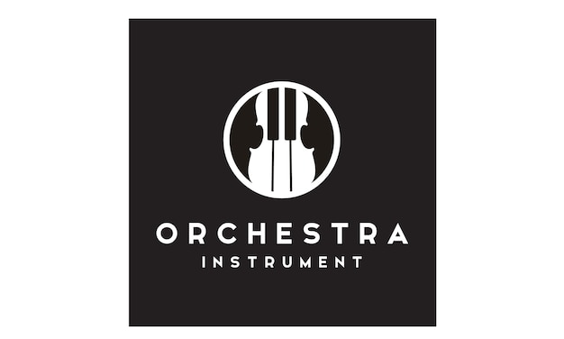 Violine und klavier logo design