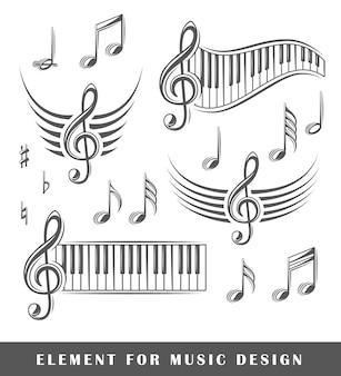 Violinschlüssel und noten