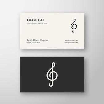 Violinschlüssel zeichen abstrakte logo