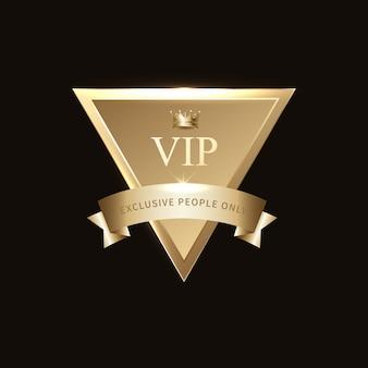Vip-goldabzeichen