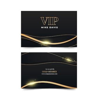 Vip-karte mit farbverlauf und goldenen details