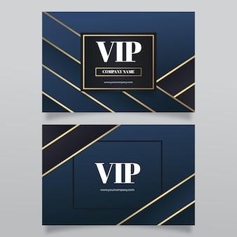 Vip-karte mit farbverlauf und goldenen details Premium Vektoren