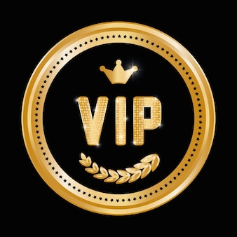 Vip-konzept mit icon-design