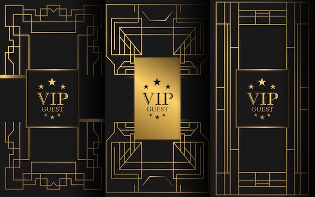 Vip-luxusvorlage