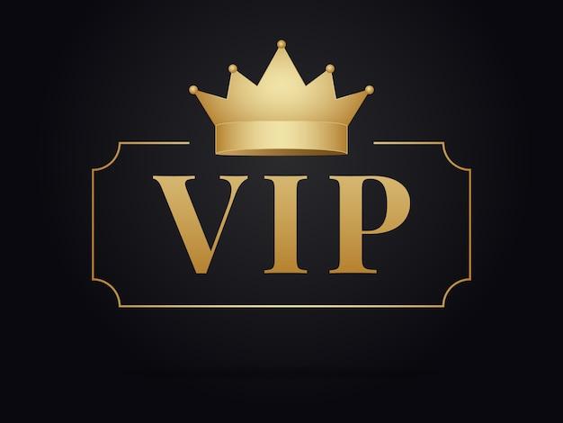 Vip-mitglied goldenes emblem.