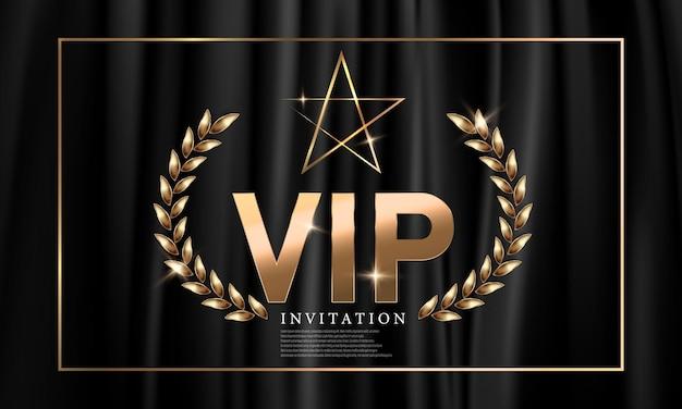 Vip-party-premium-einladungskartenplakat feier-party glücksspiel-banner-hintergrund.