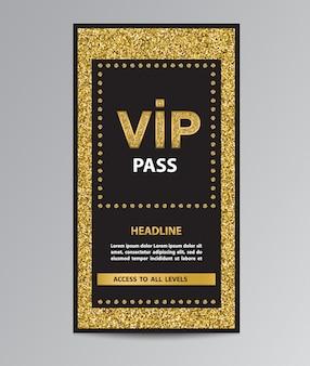 Vip-pass eintritt mit glitzer
