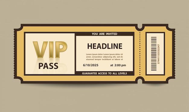 Vip-pass eintrittskarte