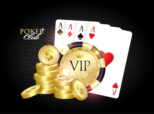 Vip poker club banner.