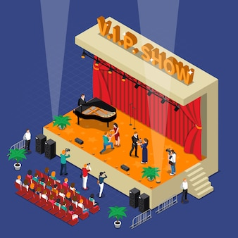 Vip show isometric design