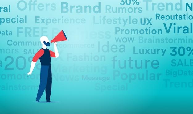 Virales marketing mit den mainstream-kommunikationskanälen