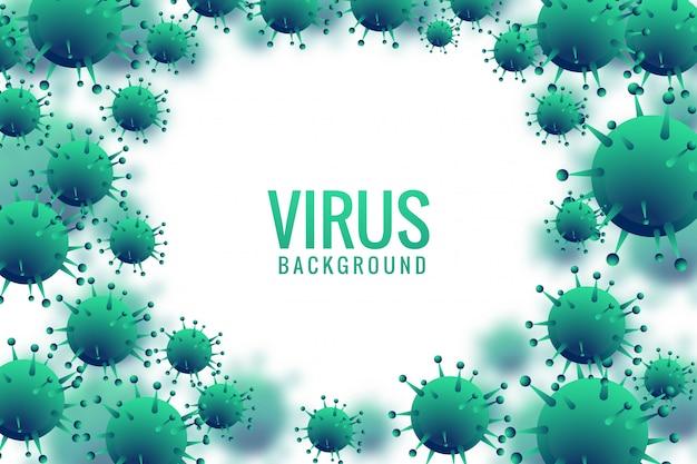 Viren und bakterien für den medizinischen hintergrund