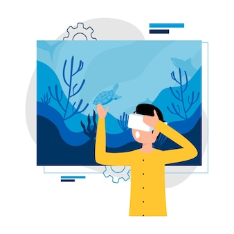 Virtual reality für urlaubskonzept