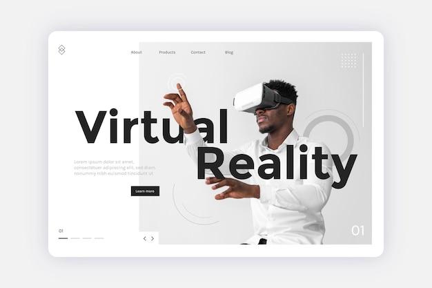 Virtual-reality-konzept - zielseite