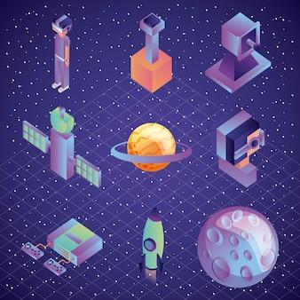 Virtual Reality-Technologie futuristischen Entertainment-Set