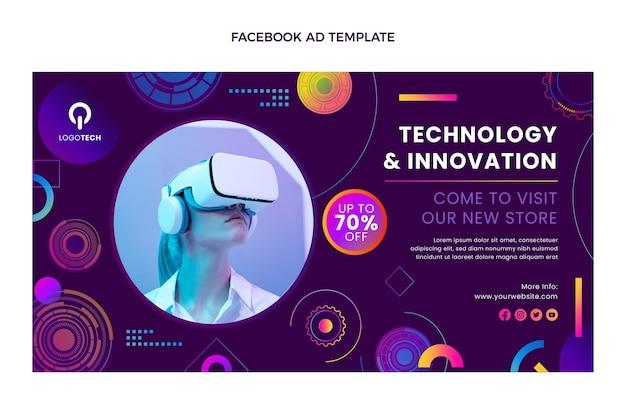 Virtual-reality-technologie mit verlaufstextur