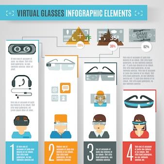 Virtuelle brille infografiken