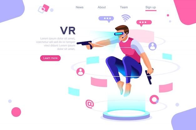 Virtuelle erfahrung im cyberspace