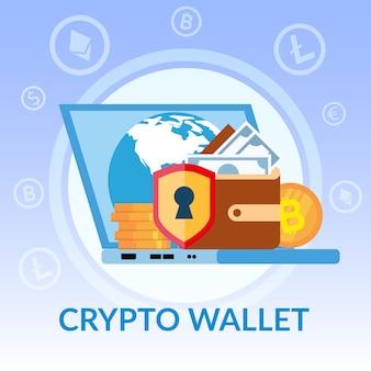 Virtuelle krypto-geldbörse