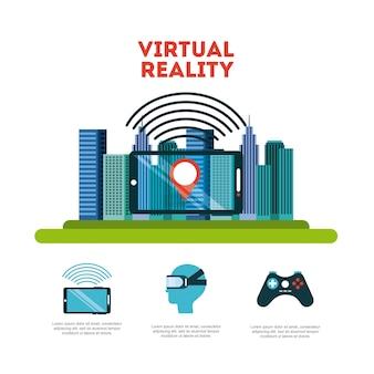 Virtuelle realität flach