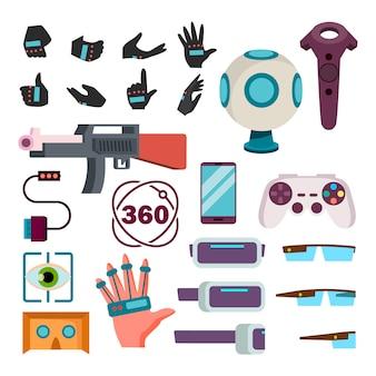 Virtuelle realität icons