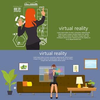 Virtuelle realität. neue technologien.