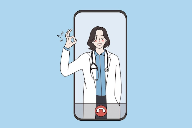 Virtueller arzt und online-gesundheitskonzept