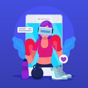 Virtuelles fitness-aktivitätskonzept
