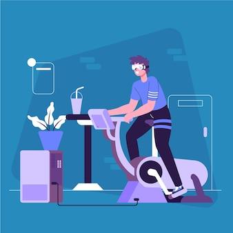Virtuelles fitnessraumkonzept