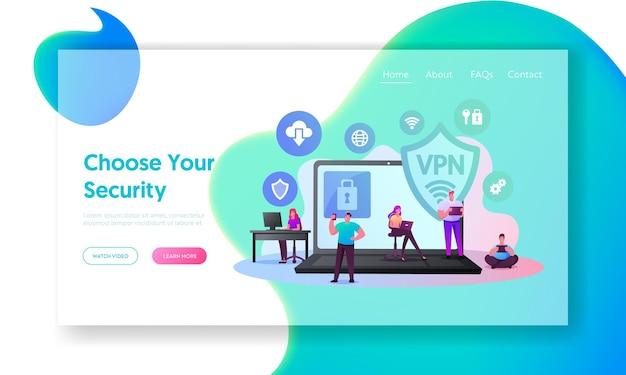 Virtuelles privates netzwerk, vpn-landingpage-vorlage