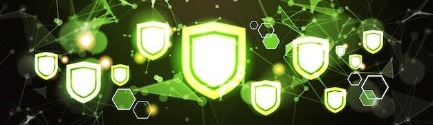 Virtuelles schild panel dsg datenschutz hintergrund