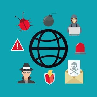 Virtuelles sicherheitssystemikonenbild