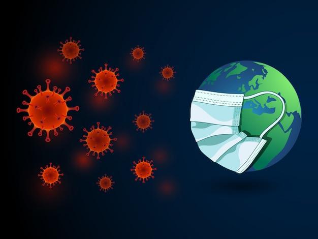 Virus auf der ganzen welt