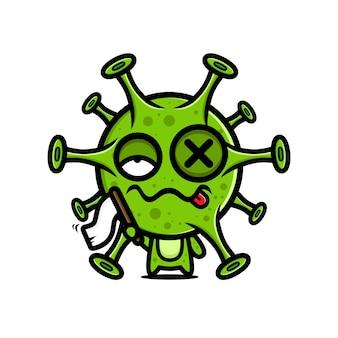 Virus design unter der weißen flagge