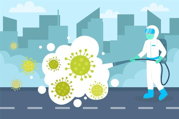 Virus-desinfektionskonzept