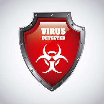 Virus grafikdesign vektor-illustration